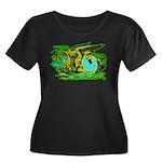 Gryphon Women's Plus Size Scoop Neck Dark T-Shirt