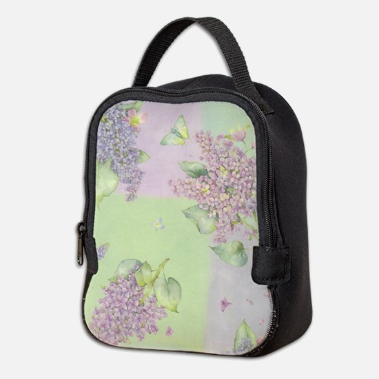 Lilacs Neoprene Lunch Bag