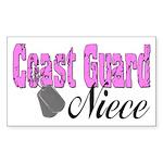 Coast Guard Niece Rectangle Sticker