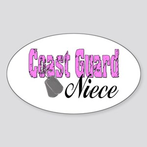 Coast Guard Niece Oval Sticker