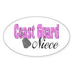 Coast Guard Niece Oval Sticker