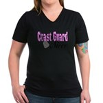 Coast Guard Niece Women's V-Neck Dark T-Shirt