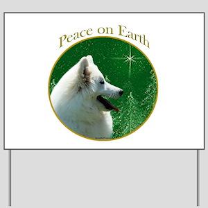 Eskimo Dog Peace Yard Sign