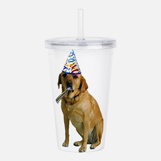 Yellow Lab Party Acrylic Double-wall Tumbler
