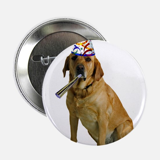 """Yellow Lab Party 2.25"""" Button"""