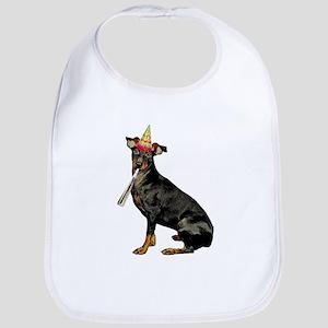 Manchester Terrier Birthday Baby Bib