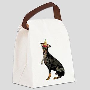 Manchester Terrier Birthday Canvas Lunch Bag