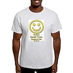 Happy Is He Who Keeps Torah Ash Grey T-Shirt