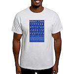 Hebrew Wall Chart Ash Grey T-Shirt