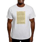 Ten Commandments Ash Grey T-Shirt