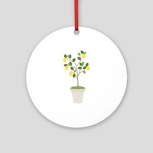 Lemon Tree Round Ornament