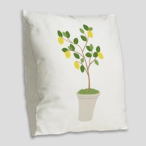 Lemon Tree Burlap Throw Pillow