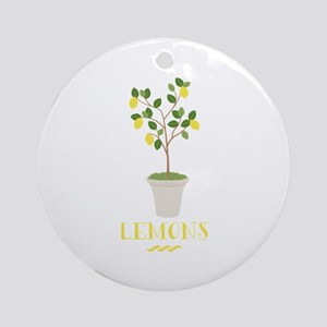 Lemons Round Ornament