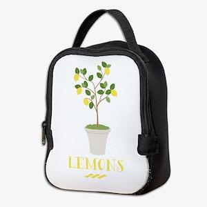 Lemons Neoprene Lunch Bag