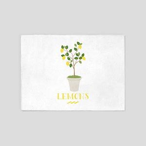 Lemons 5'x7'Area Rug