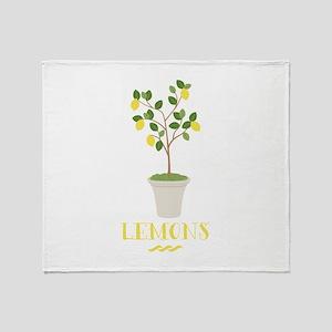 Lemons Throw Blanket
