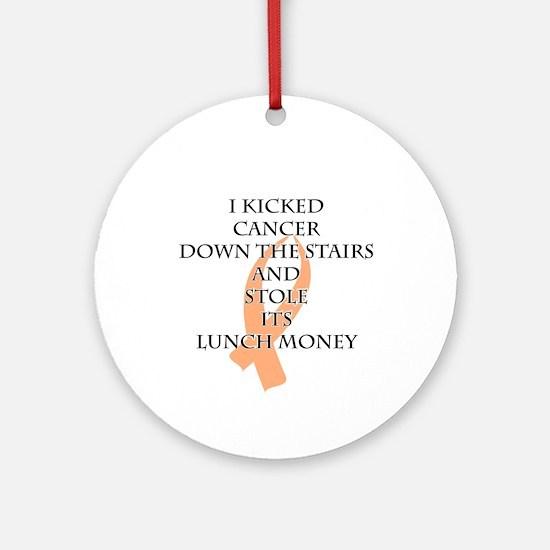 Cancer Bully (Peach Ribbon) Round Ornament