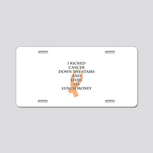 Cancer Bully (Peach Ribbon) Aluminum License Plate