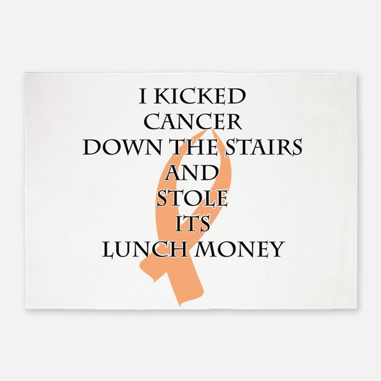 Cancer Bully (Peach Ribbon) 5'x7'Area Rug