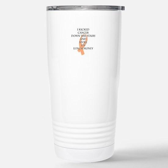 Cancer Bully (Peach Ribbon) Travel Mug