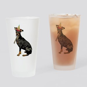 Manchester Terrier Birthday Drinking Glass