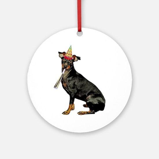 Manchester Terrier Birthday Round Ornament