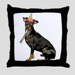 Manchester Terrier Birthday Throw Pillow