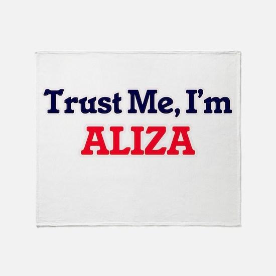 Trust Me, I'm Aliza Throw Blanket