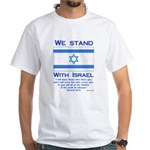 We Stand With Israel White T-Shirt