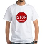 Stop Sinning White T-Shirt