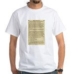 Ten Commandments White T-Shirt