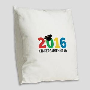 2016 Kindergarten Grad Burlap Throw Pillow