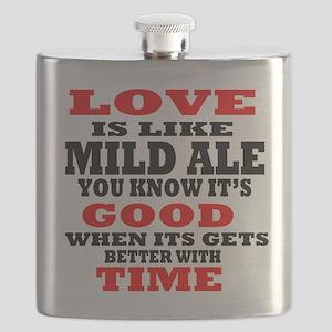 Love Is Like Mild Ale Flask