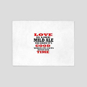 Love Is Like Mild Ale 5'x7'Area Rug
