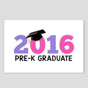 2016 Pre-K Graduate (Girl Postcards (Package of 8)