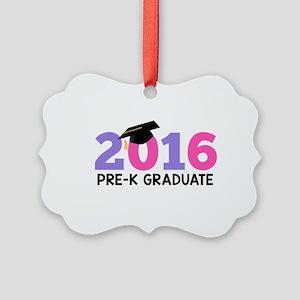 2016 Pre-K Graduate (Girls) Picture Ornament