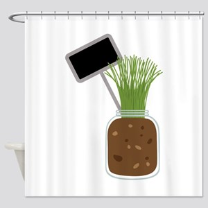 Chives Jar Shower Curtain