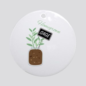 Homegrown Sage Round Ornament