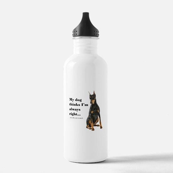 Doberman v Wife Water Bottle