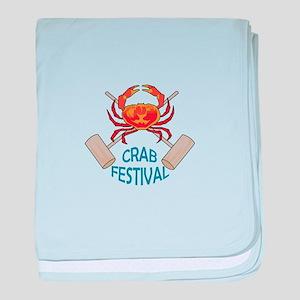 Crab Festival baby blanket
