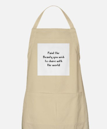 Paint the Beauty you wish to  BBQ Apron