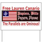 Free Lauren-1 Yard Sign