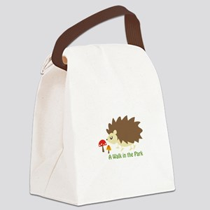 Walk In The Park Applique Canvas Lunch Bag