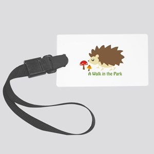 Walk In The Park Applique Luggage Tag