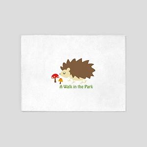 Walk In The Park Applique 5'x7'Area Rug