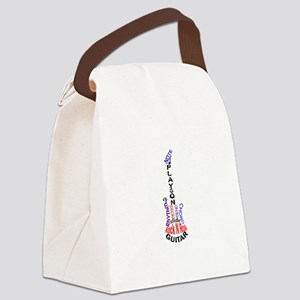 Guitar Larger Canvas Lunch Bag