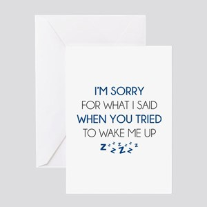 Feeling insulting greeting cards cafepress im sorry for what i said greeting card m4hsunfo