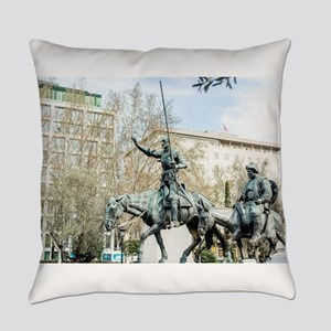 Spanish heroes Don Quixote and San Everyday Pillow
