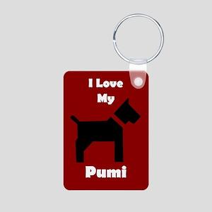 I Love My Pumi Dog Keychain Keychains