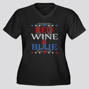 Red Wine and Blue Plus Size T-Shirt